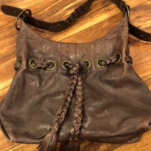 Brown leather Kooba hobo bag 💼